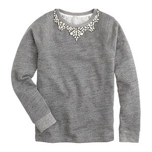 Used Condition J.Crew Bib Necklace Sweatshirt